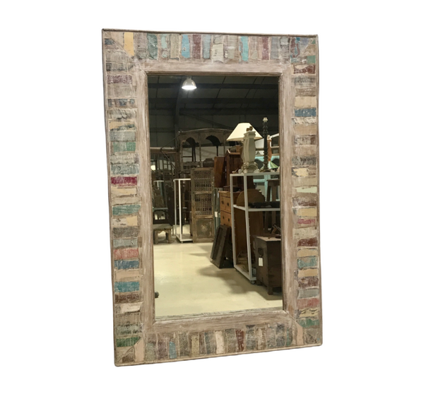 RECLAIMED INDIAN TEAK WOOD MIRROR (H121CM | W80CM)