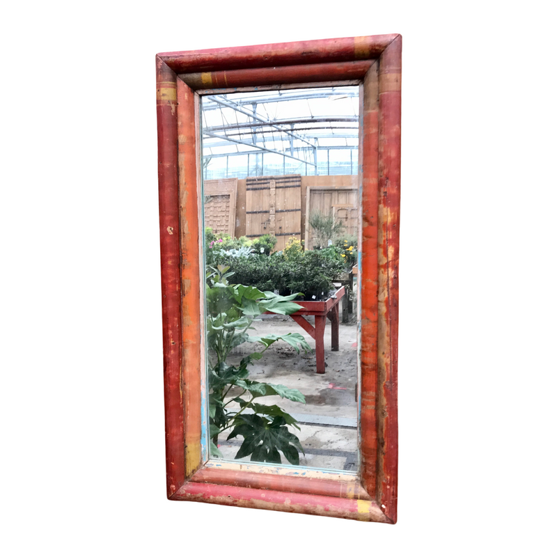 RECLAIMED INDIAN BAMBOO MIRROR