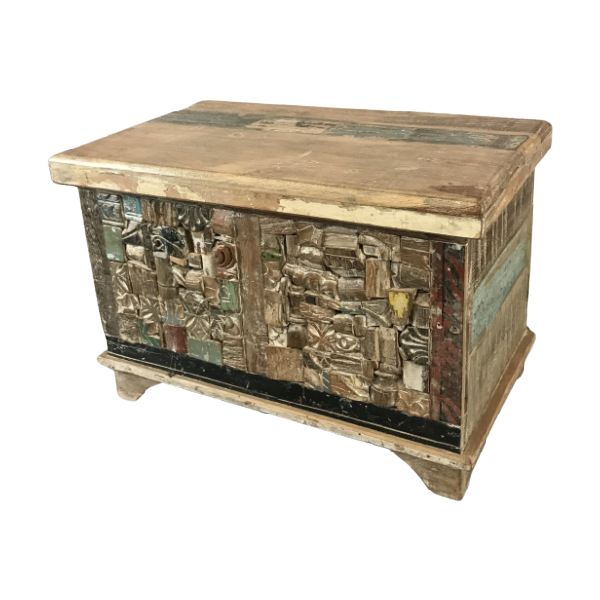 RECLAIMED INDIAN HARDWOOD STORAGE CHEST