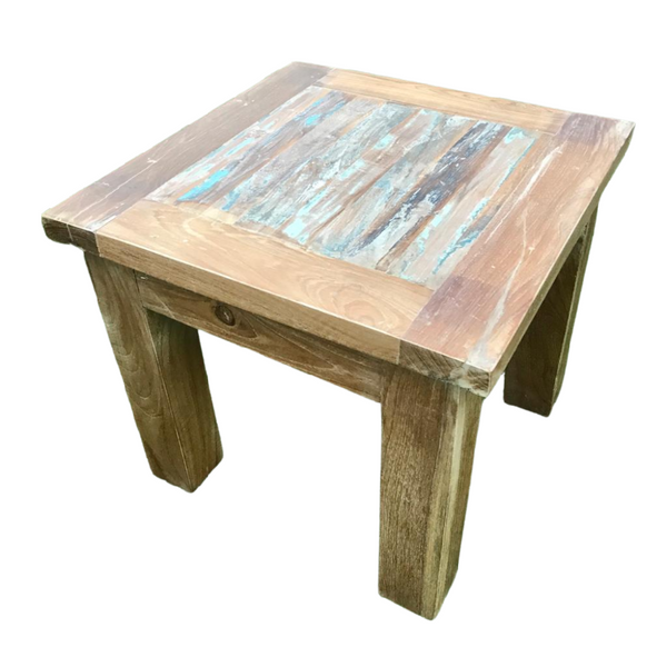 Reclaimed Indian Teak wood Side table (H40.5cm | W45cm)