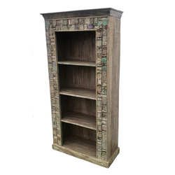 Reclaimed Indian teak bookcase (H184cm | W91cm)