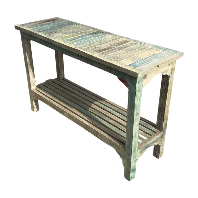 Reclaimed hand painted Indian console (W120cm | H77cm)