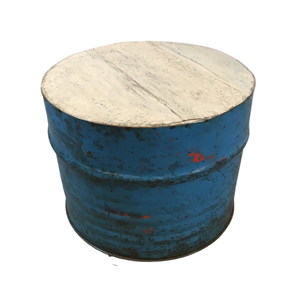 RECYCLED OIL DRUM TABLE SEAT (H49CM | W57CM)