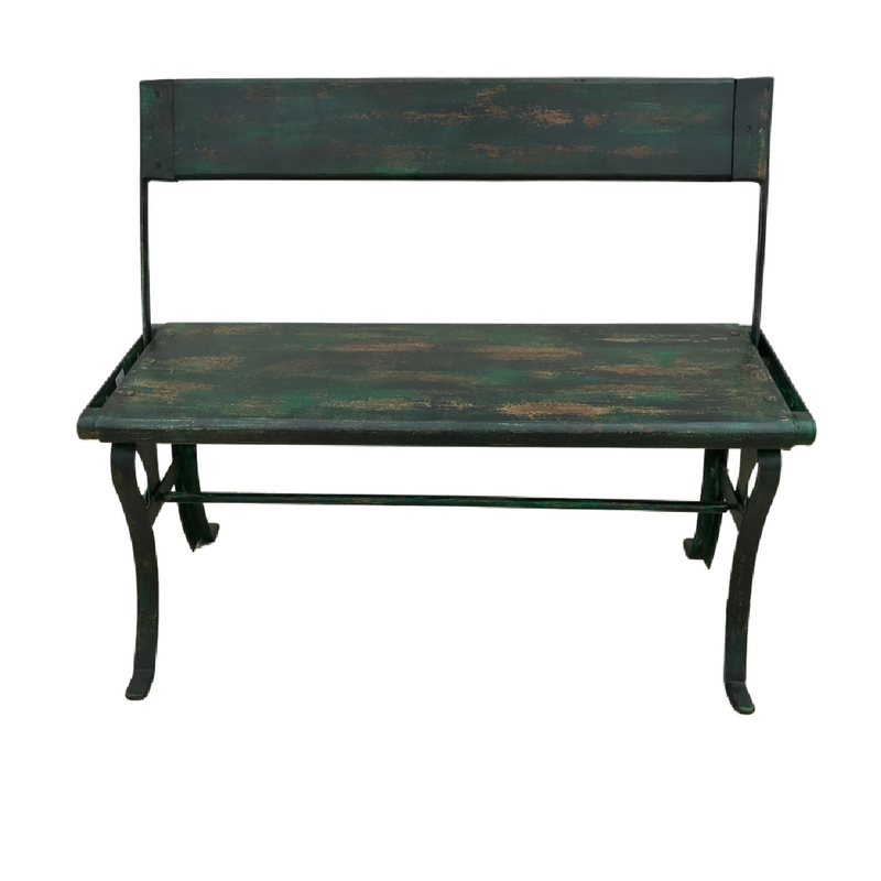 REVERSIBLE BACK REST INDIAN BENCH | DARK GREEN (W100CM | H85CM)