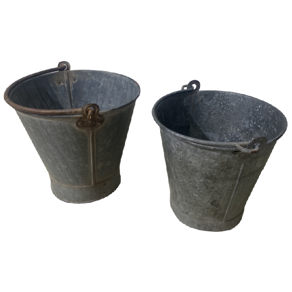 SMALL GALVANISED BUCKET | Ø27CM H25CM