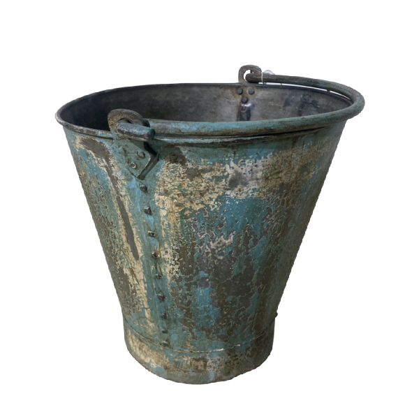 SMALL PAINTED BUCKET | BLUE TURQUOISE | Ø27CM  H27CM