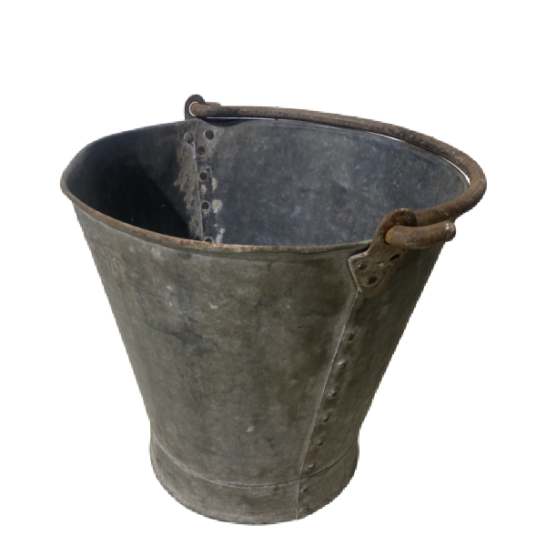 SMALL RIVETED BUCKET | Ø27CM H25M