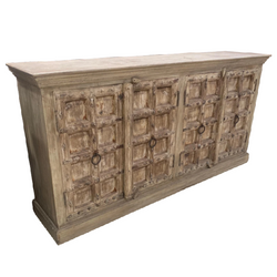 STUDDED INDIAN WHITEWASHED SIDEBOARD (W204CM | H102CM)
