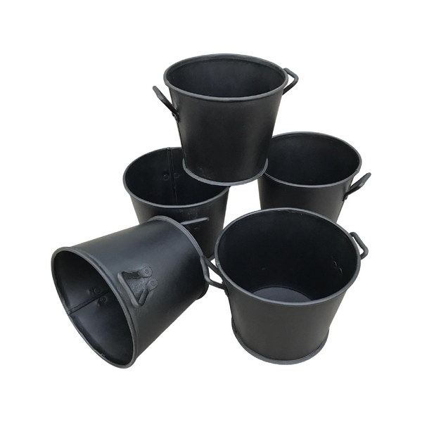 SMALL METAL PLANTER BUCKETS | (H13CM | Ø15CM)
