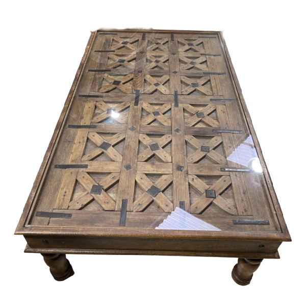 ANTIQUE INDIAN TRIBAL GATE COFFEE TABLE (L162CM | W95CM)
