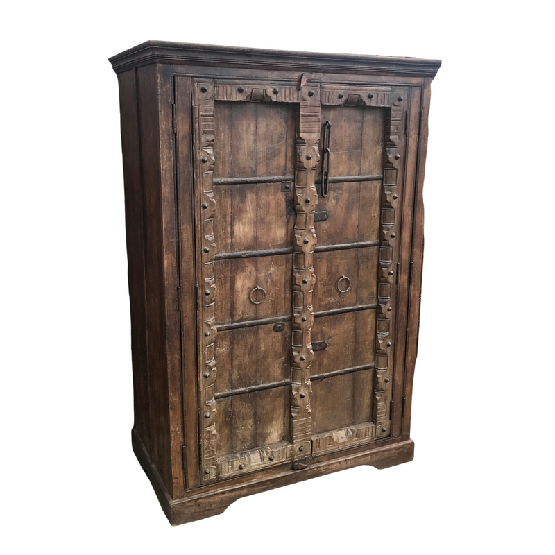 UPCYCLED ANTIQUE INDIAN DOOR WARDROBE