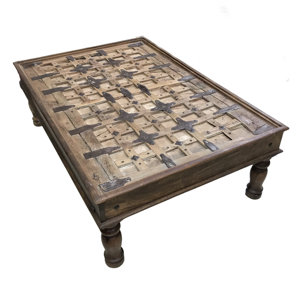 ANTIQUE INDIAN TRIBAL GATE COFFEE TABLE (L142CM | W95CM)