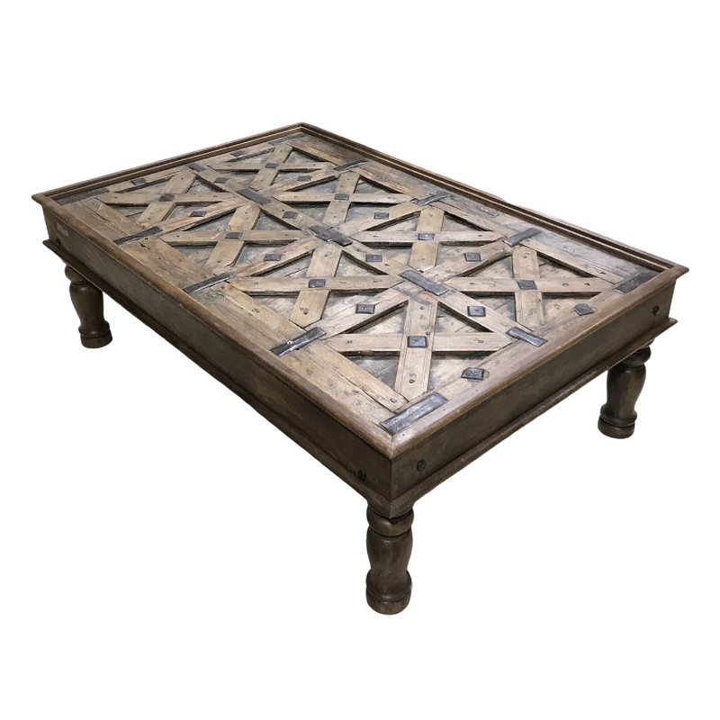 UPCYCLED INDIAN TRIBAL GATE COFFEE TABLE ( L134.5CM | W89.5CM)