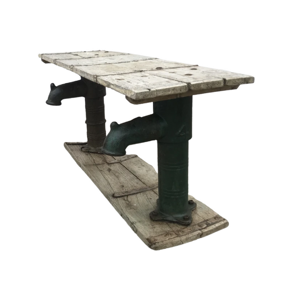 RECLAIMED INDUSTRIAL PUMP BENCH