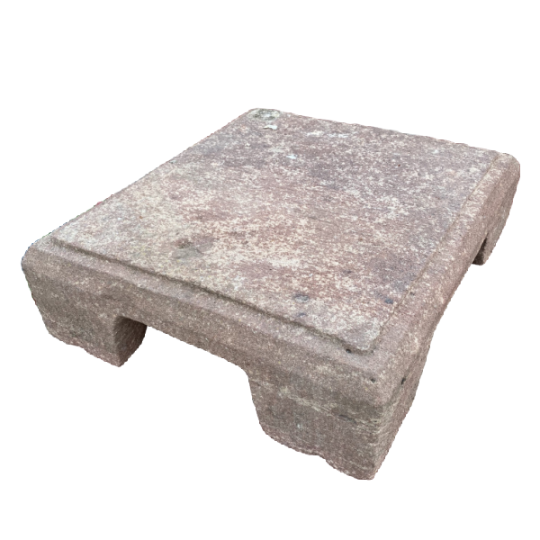 CARVED STONE LOW TABLE | W48CM H14CM