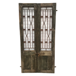 INDIAN TEAK GATE ART DECO STYLE (W106CM | H198CM)