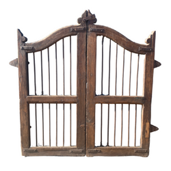 VINTAGE INDIAN TEAK DOG GARDEN GATE (H112CM | W100CM)