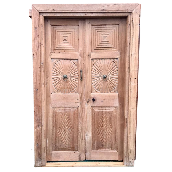 Vintage Indian Carved Teak Door (H218cm | W136cm)