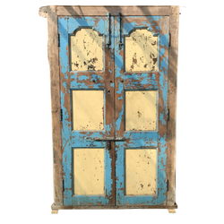 Vintage Indian Painted Teak door (H222cm | W138cm)