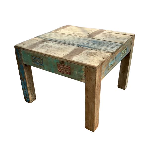 VINTAGE INDIAN RECLAIMED WOOD COFFEE SIDE TABLE (W60cm | H45cm)