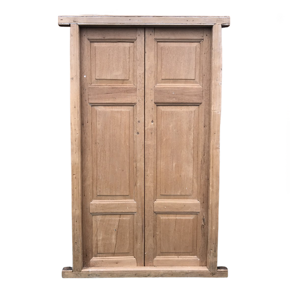 Antique Indian teak door in frame (H216cm | W135cm)