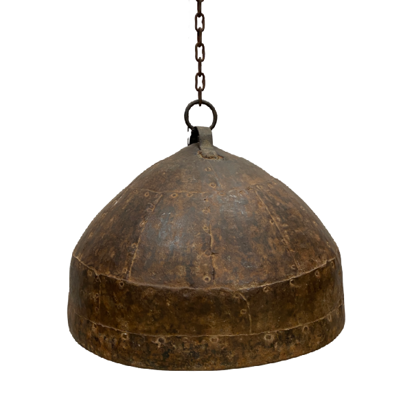 INDUSTRIAL STYLE METAL RIVETED LIGHT PENDANT SHADE ONLY