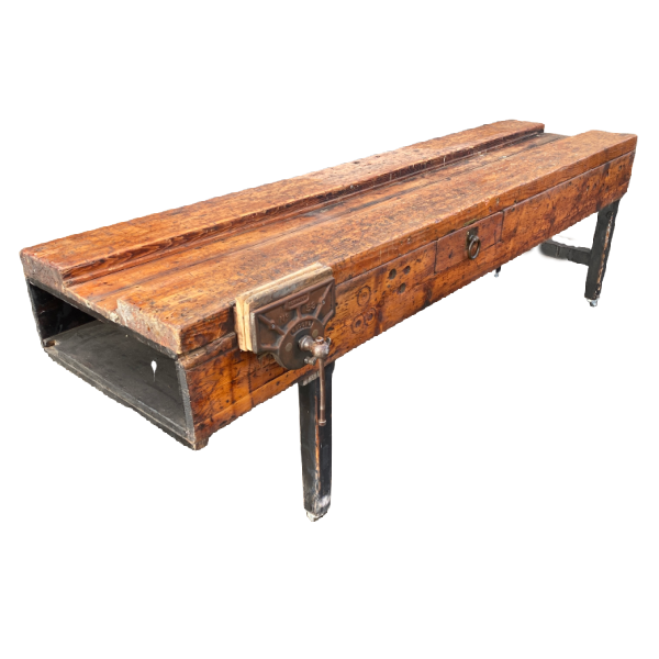 VINTAGE WORK BENCH ON WHEELS | KITCHEN ISLAND