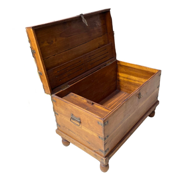 VINTAGE INDIAN TEAK CHEST (W89CM | H62CM)