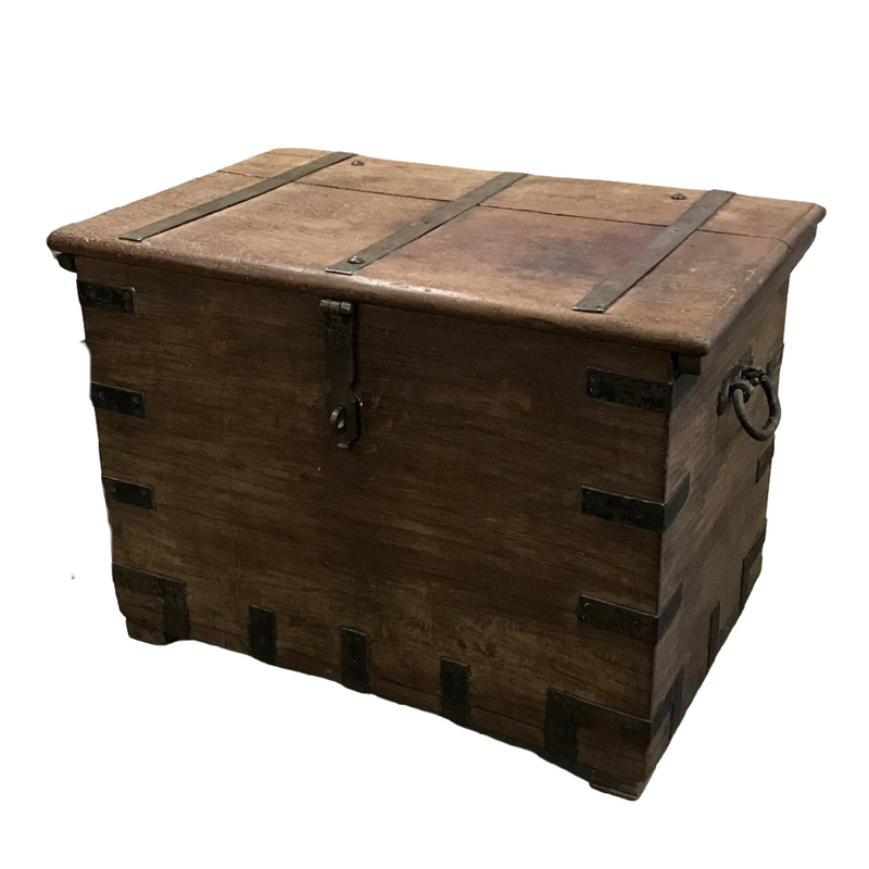 Vintage teak wood merchants chest