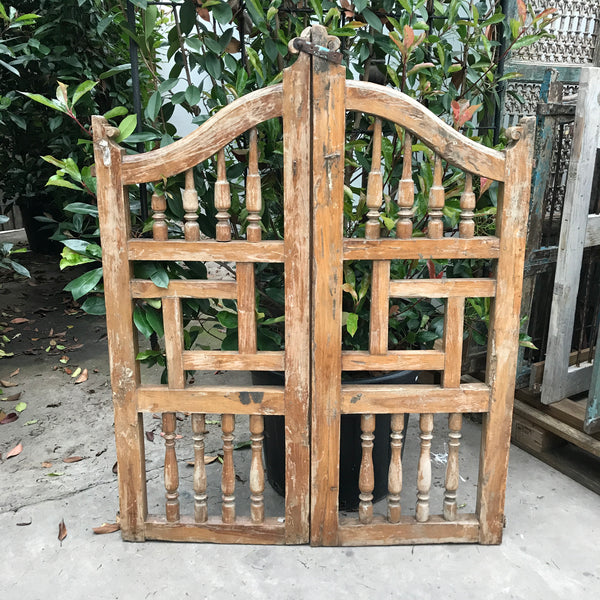 Vintage Indian Teak Garden Dog Gate - H130cm | W100cm