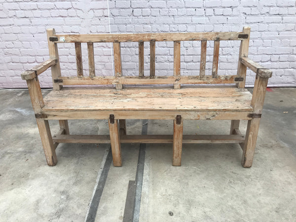 Vintage bench with iron details  | 30924 (W)