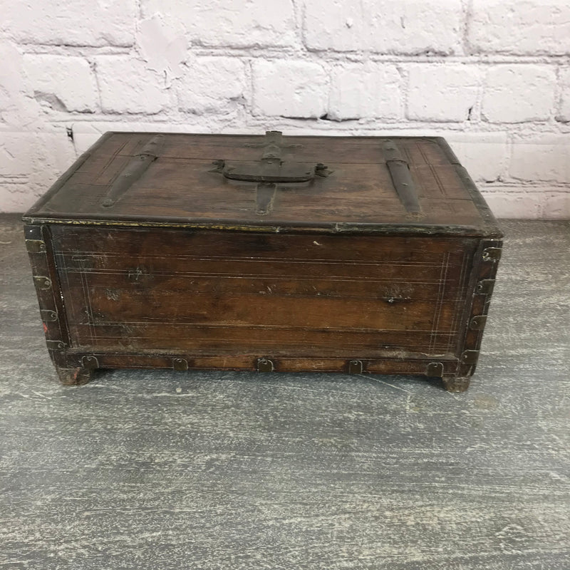 VINTAGE INDIAN TRIBAL DOWRY JEWELLERY BOX