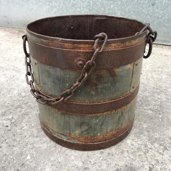 INDIAN METAL MILK CHURN | Metal Chain (DIAM Ø28CM)