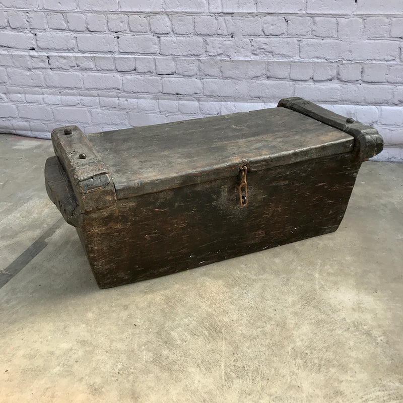 VINTAGE INDIAN TRIBAL RICE STORAGE CHEST