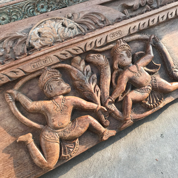 Vintage Indian architectural panel