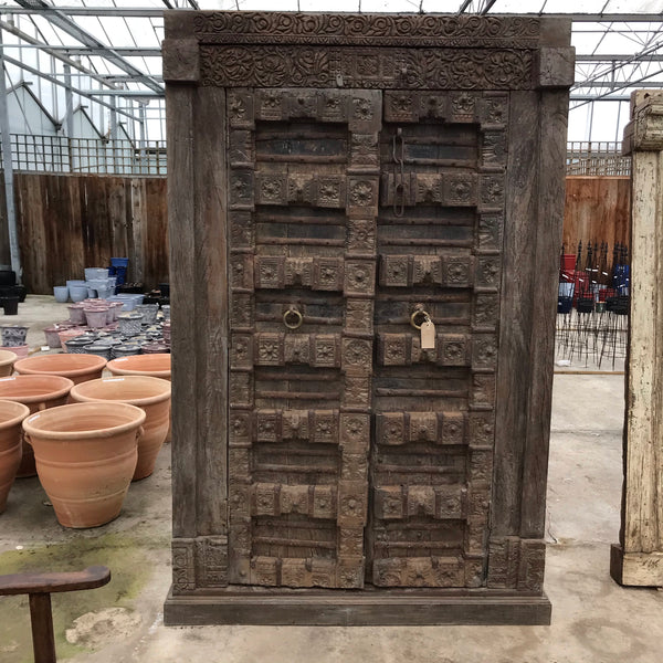ANTIQUE INDIAN TEMPLE DOOR WARDROBE (H217CM | W144CM)