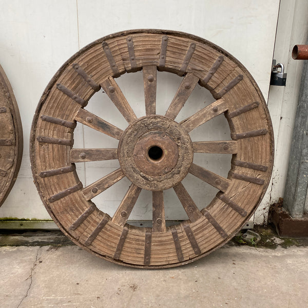 VINTAGE INDIAN CART WHEEL GARDEN DECORATION | Ø100cm