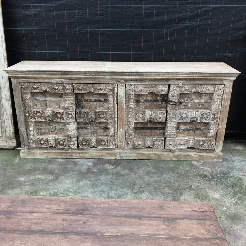 ANTIQUE INDIAN TEMPLE DOOR SIDEBOARD