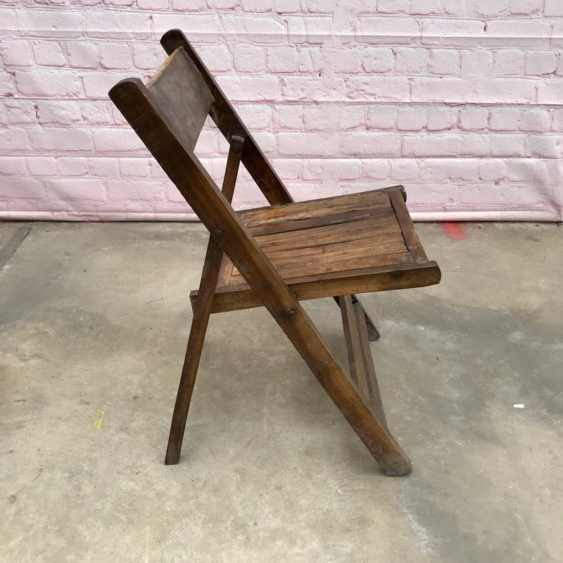 Vintage Folding Wood Chair