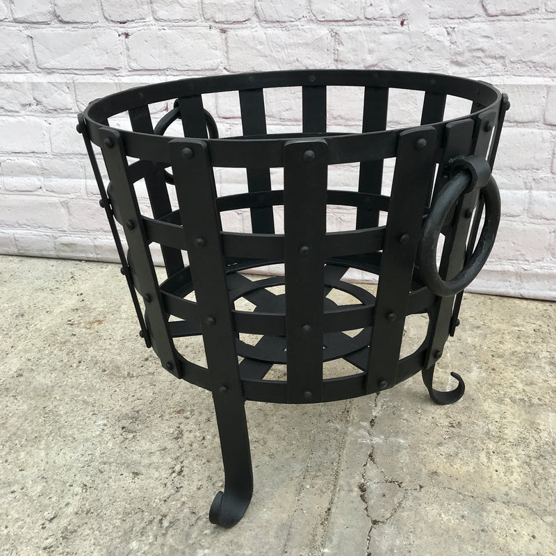 CAST IRON LOG BASKET (DIAM Ø55CM | H49CM)