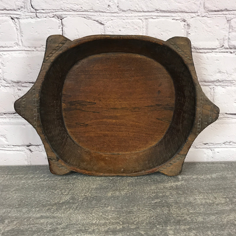 Vintage teak Indian hand carved bowl | ø35cm | 45690a