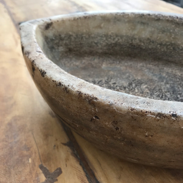 Vintage carved marble bowl