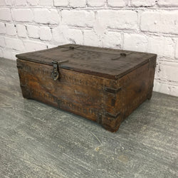 ANTIQUE INDIAN TRIBAL DOWRY BOX | DESK JEWELLERY BOX