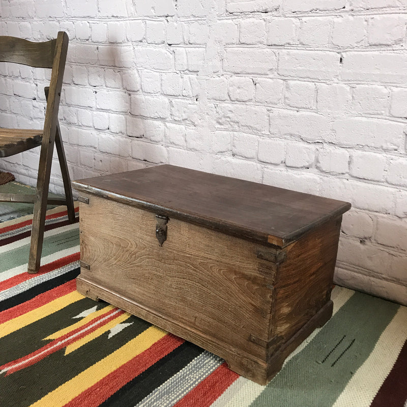 VINTAGE ANGLO-INDIAN MERCHANT'S CHEST