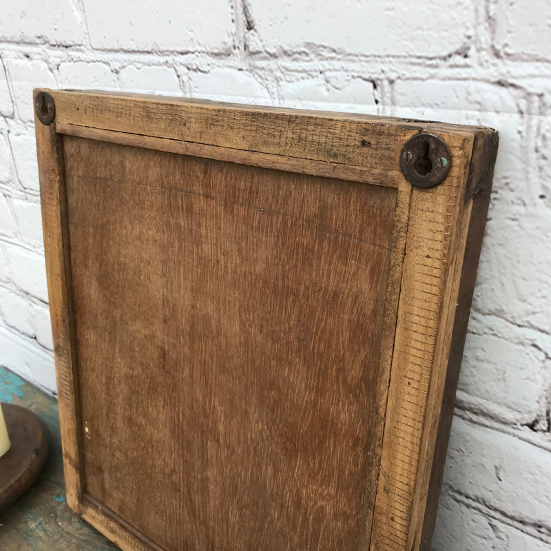 Upcycled rustic painted window shutter mirror (H50.5CM | W43.7CM)