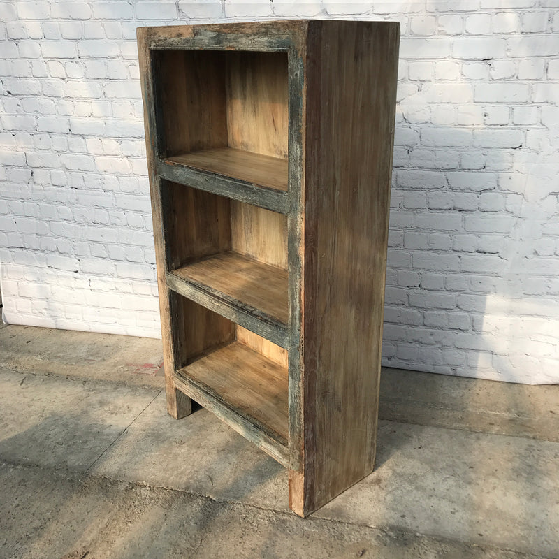 Rustic reclaimed wood 3 tier shelving | bookcase (D+W)