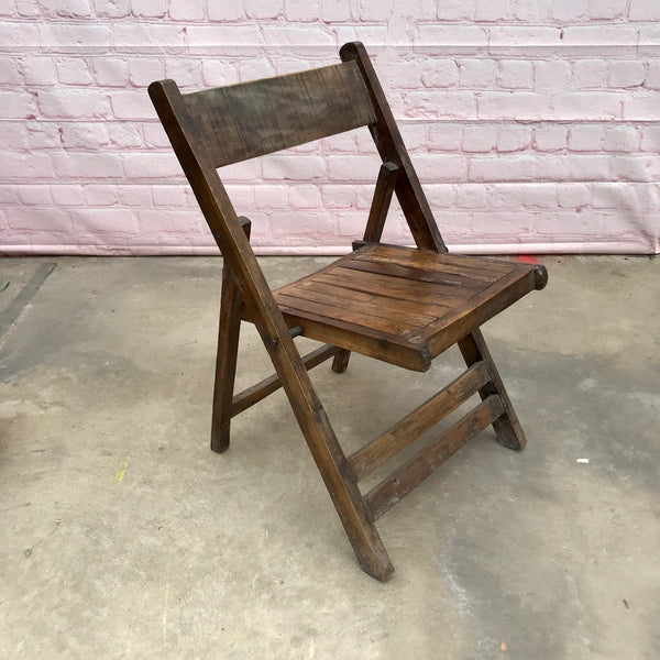 Hand-crafted Folding Wood Chair