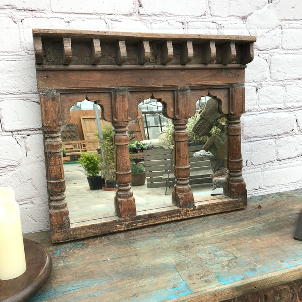 Upcycled antique Indian temple mirror | 44228