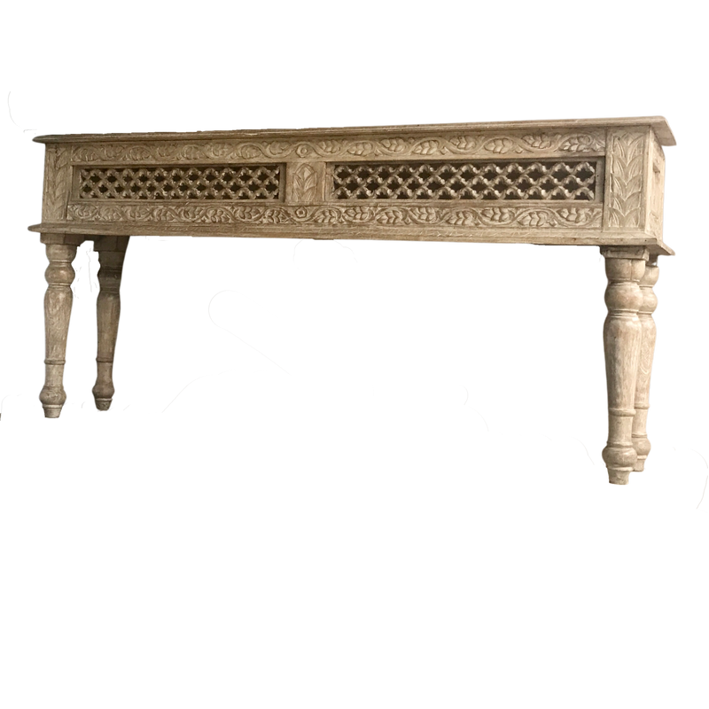 HAND CARVED INDIAN CONSOLE (W163CM | H77CM)