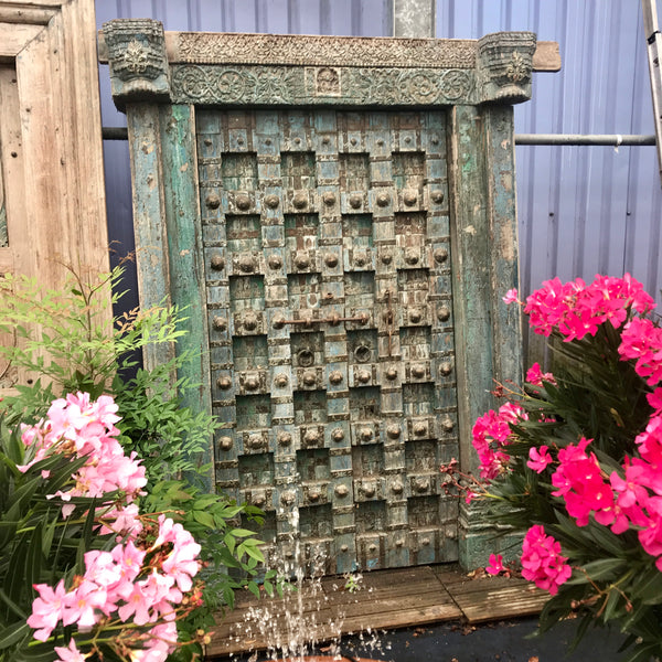 Antique Studded Indian Haveli Mansion Door (H230cm | W160cm)